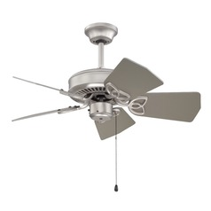 Craftmade Lighting Piccolo Brushed Satin Nickel Ceiling Fan Without Light
