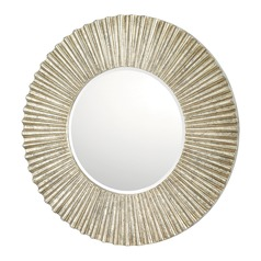 Capital Lighting Antique Silver Round Mirror 36x36