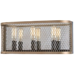 Minka Lavery Marsden Commons Smoked Iron with Aged Gold Bathroom Light