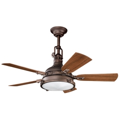 Kichler Ceiling Fan with Light Kit in Weathered Copper Finish