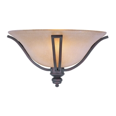 Sconce Wall Light with Beige / Cream Glass in Oil Rubbed Bronze Finish