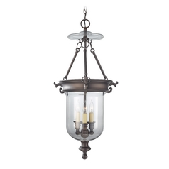 Pendant Light with Clear Glass in Oil Rubbed Bronze Finish