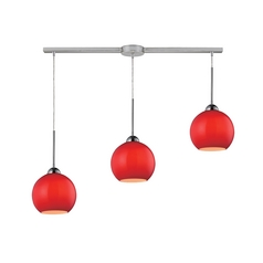 HGTV Island Multi-Light Pendant with Red Shades