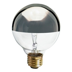Satco Lighting 40-Watt G25 Globe Silver Crown Light Bulb S3861