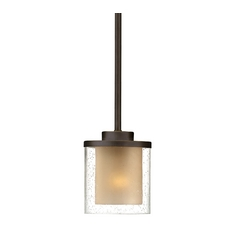 Seeded Glass & Amber Mini-Pendant Light Bronze Dolan Designs
