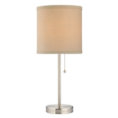 Design Classics Lighting Pauz Table Lamp with Cream Linen Lamp Shade 1900-09 SH9555