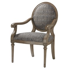 Luxe Accent Chair In Grey