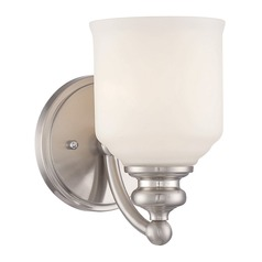 Savoy House Lighting Melrose Satin Nickel Sconce