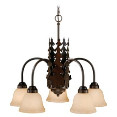 Bozeman Burnished Bronze Chandelier by Vaxcel Lighting