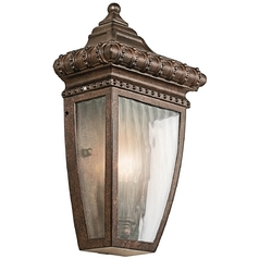 Kichler Outdoor Wall Light with Clear Glass in Bronze Finish