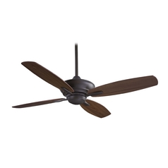 52-Inch Ceiling Fan Without Light in Bronze Finish