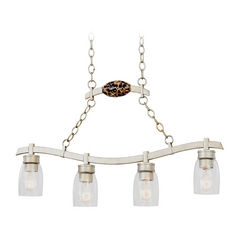 Seeded Glass Island Light Silver Kalco Lighting
