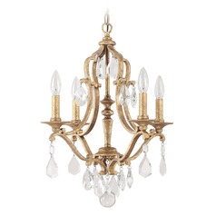 Crystal brass mini chandeliers destination lighting capital lighting blakely antique gold mini chandelier aloadofball Images