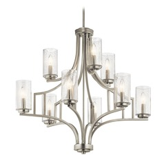 Seeded Glass Chandelier Brushed Nickel Vara by Kichler Lighting