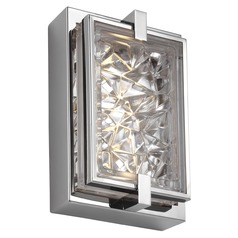 Feiss Lighting Erin Polished Stainless Steel LED Sconce