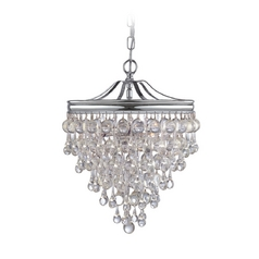 Crystal Pendant Light in Polished Chrome Finish