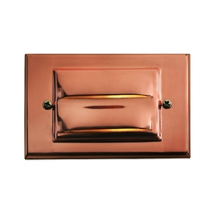 Modern LED Recessed Deck Light in Copper Finish