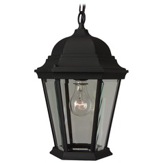 Craftmade Lighting Straight Glass Matte Black Outdoor Hanging Light