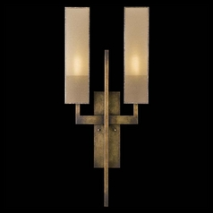Fine Art Lamps Perspectives Patinated Golden Bronze Sconce