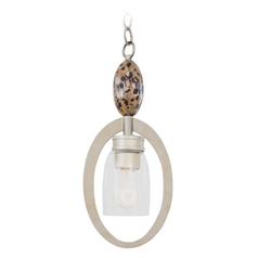 Kalco Lighting Largo Tarnished Silver Mini-Pendant Light
