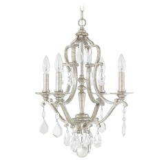 Capital Lighting Blakely Antique Silver Mini-Chandelier