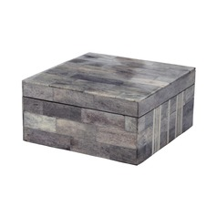 Gray And White Bone Boxes - Large