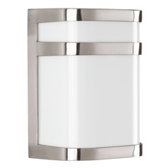 Progress Lighting Valera LED Brushed Nickel LED Outdoor Wall Light
