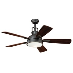 Walton Gold Stone Ceiling Fan with Light by Vaxcel Lighting