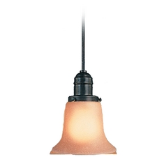 Hudson Valley Lighting Mini-Pendant Light with Amber Glass 3102-OB-116