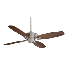 52-Inch Ceiling Fan Without Light in Brushed Nickel Finish