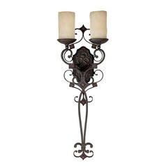 Capital Lighting River Crest Rustic Iron Sconce