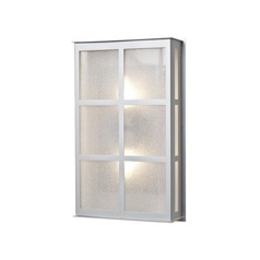 Besa Lighting Bree Brushed Aluminum LED Outdoor Wall Light
