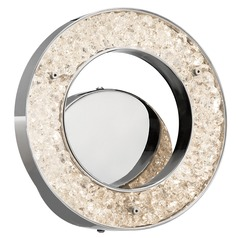 Elan Lighting Crushed Ice Chrome LED Sconce