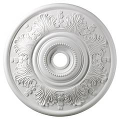 Medallion in White Finish