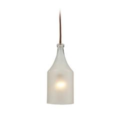 Mini-Pendant Light with White Glass