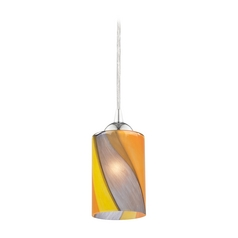 Design Classics Lighting Modern Mini-Pendant Light with Art Glass 582-26 GL1015C