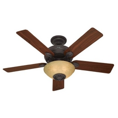 Hunter Fan Company Westover New Bronze Ceiling Fan with Light