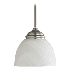 Quorum Lighting Ashton Satin Nickel Mini-Pendant Light