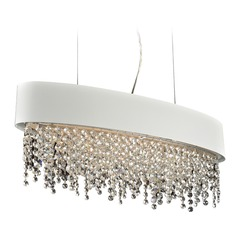PLC Lighting Galoga White Pendant Light with Oval Shade
