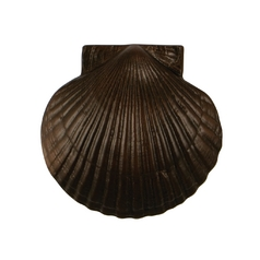 Sea Scallop Door Knocker in Oiled Bronze Finish