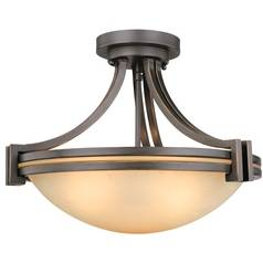 Design Classics Lighting Three-Light Semi-Flush Ceiling Light 534-78