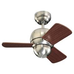 Monte Carlo Fans Compact 24-Inch Ceiling Fan with Three Blades 3TF24BS