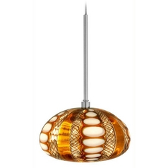 Modern Low Voltage Mini-Pendant Light with Multi-Color Glass