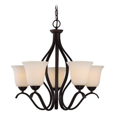 Nuvo Lighting Dillard Aged Bronze Chandelier