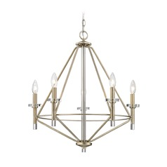 Elk Lighting Lacombe Aged Silver Chandelier