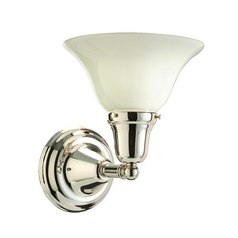 Hudson Valley Lighting Bathroom Light with White Glass in Polished Nickel Finish 581-PN-415