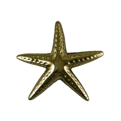 Starfish Door Knocker in Silver Nickel Finish