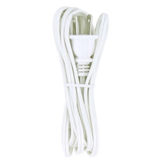Lamp Wire and Cord Set in White Finish