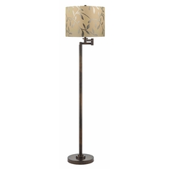 Design Classics Lighting Bronze Swing Arm Floor Lamp with Drum Shade 1901-1-604 SH9476