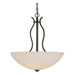Nuvo Lighting Dillard Aged Bronze Pendant Light with Bowl / Dome Shade